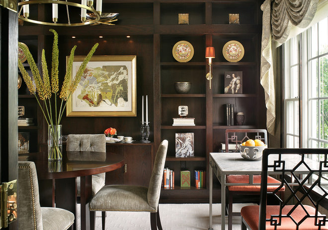 Eclectic Dining Room by J. Stephens Interiors