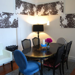 eclectic dining room by Nicole Lanteri