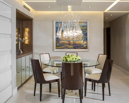 . Dining Room Design Ideas  Remodels   Photos with Marble Floors