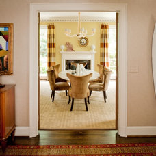 Transitional Dining Room by Teri Thomas Interiors