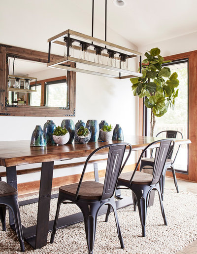 Rustic Dining Room by CIRCLE Design Studio