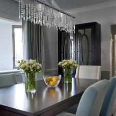 Transitional Dining Room by Frances Herrera Interior Design