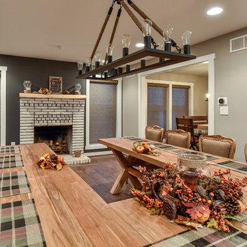 Modern, Split-Level Custom Home in Arlington, VA, with Arts & Crafts Elements.