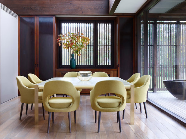Asian Dining Room by Prutting & Company Custom Builders