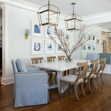 Beach Style Dining Room by S. B. Long Interiors