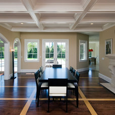Contemporary Dining Room by Perello Building Corporation