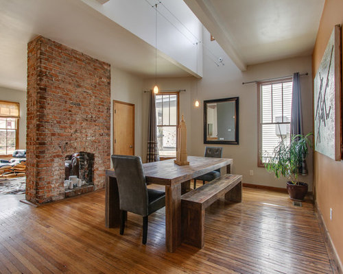 Inspiration For A Timeless Medium Tone Wood Floor Dining Room Remodel In Nashville With Two