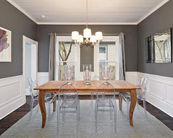 Grey Brown Dining Room Houzz