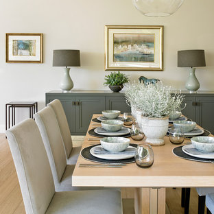 Photo of a contemporary dining room in Surrey.