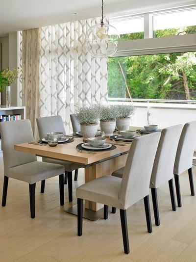 Unique Transitional Dining Room by Susan Venn Design