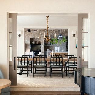 Enclosed dining room - mediterranean enclosed dining room idea in Orange County