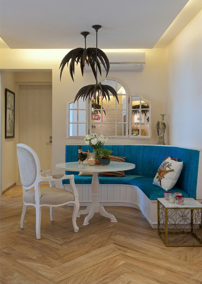 Eclectic Dining Room by P S Design