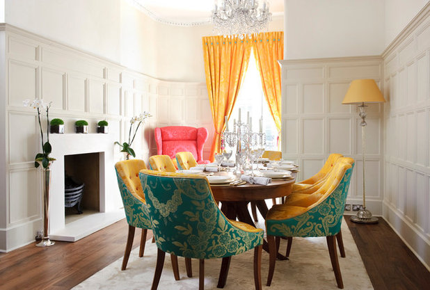 Transitional Dining Room by Interior Desires UK