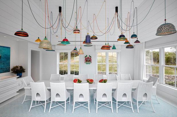 Beach Style Dining Room by Ghislaine Viñas Interior Design