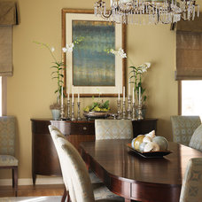 Transitional Dining Room by Tres McKinney Design