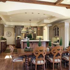 Mediterranean Dining Room by Conrado - Home Builders