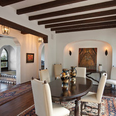 Mediterranean Dining Room by Lindsey Adams Construction Inc.