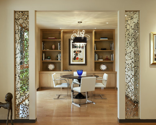Dining room partition houzz for Dining hall wall design
