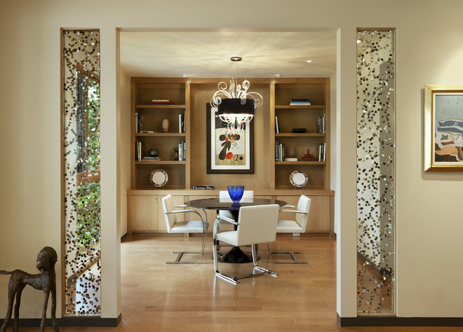 Contemporary Dining Room by Allen Construction