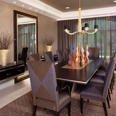 modern dining room by Jorge Castillo Design Inc.