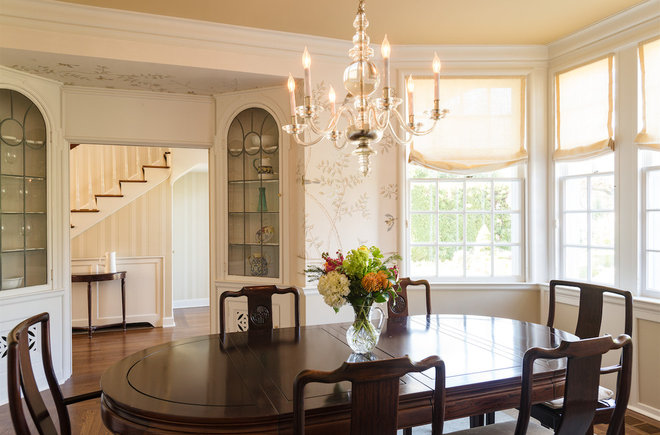 Traditional Dining Room by Jenni Leasia Design