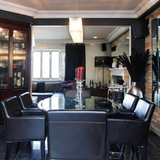 Contemporary Dining Room by Esther Hershcovich