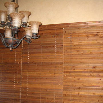 Montreux home - Distressed wood blinds