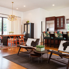 Eclectic Dining Room by Laura U, Inc.