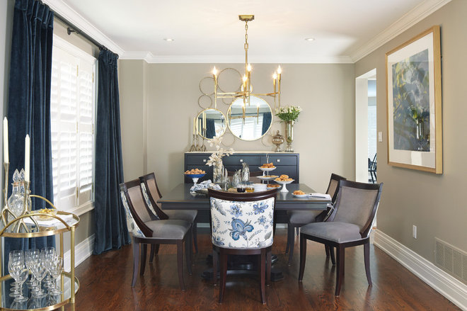 Contemporary Dining Room by Sealy Design Inc.