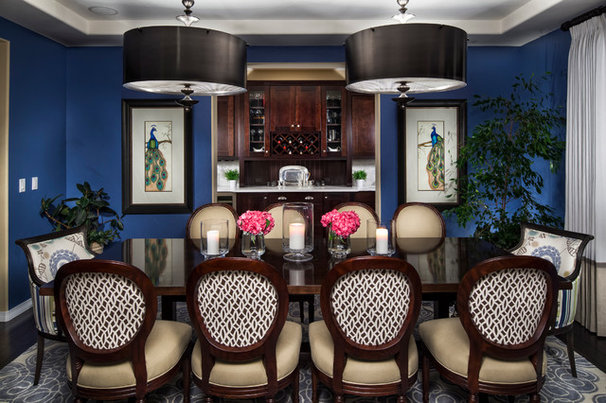 Traditional Dining Room by Duet Design Group