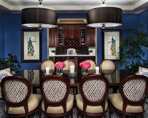 Blue Dining Room | Houzz
