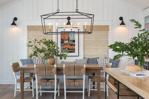 Farmhouse Dining Room by Anderson & Rodgers Construction