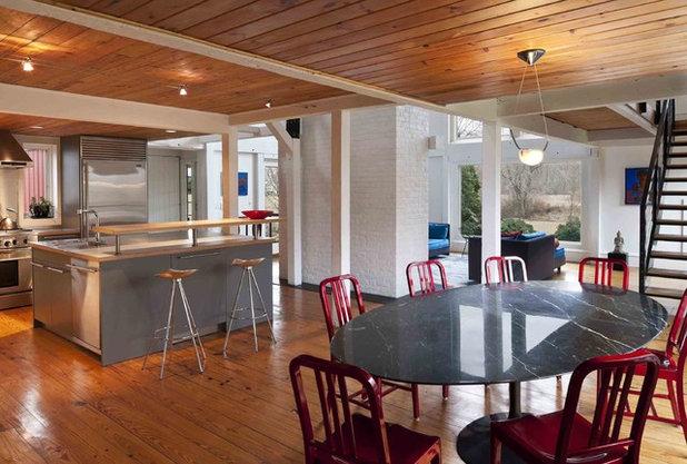 Farmhouse Dining Room by Sandvold Blanda Architecture + Interiors LLC