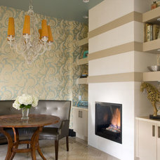 Contemporary Dining Room by Angela Otten; WmOhs Showrooms Inc