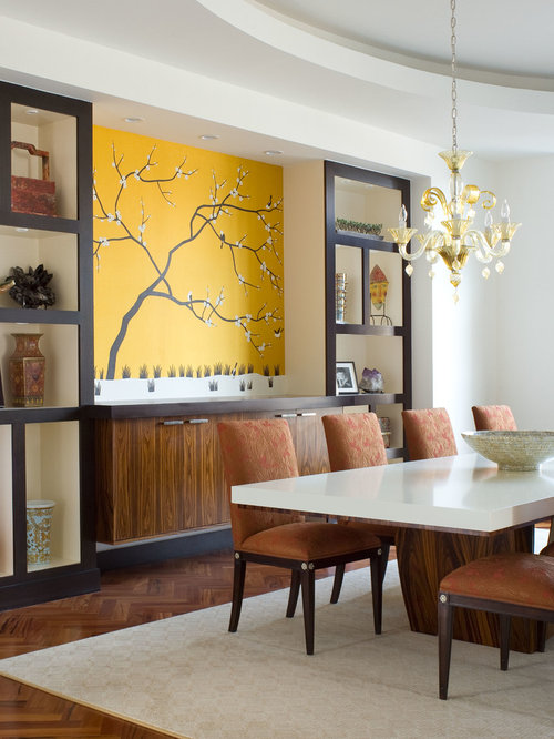 Hall showcase houzz for Showcase designs for dining room