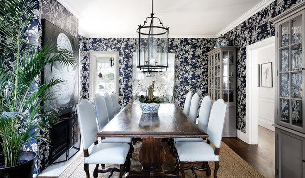 Transitional Dining Room by The Classic Outfitter