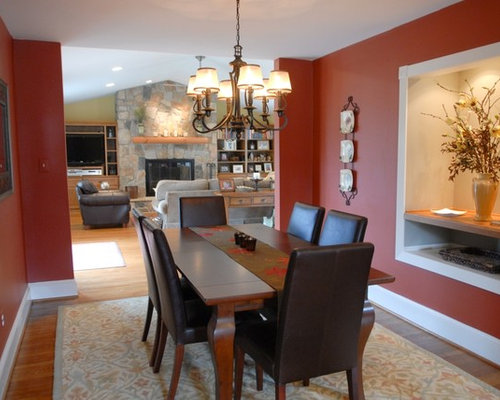 Modern dining room design ideas renovations photos with for Dining room ideas with red walls