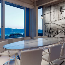 modern dining room by Gary Hutton Design