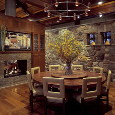 Rustic Dining Room by Tidewater Lumber and Moulding, Inc.