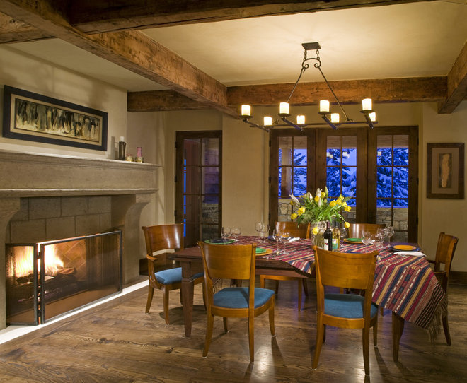 Traditional Dining Room by Bear Mountain Builders