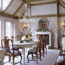 Traditional Dining Room by David Easton Inc.