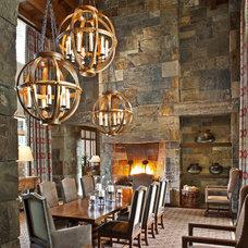 Rustic Dining Room by Tucker & Marks