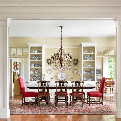 Elegant dining room photo in Atlanta with beige walls