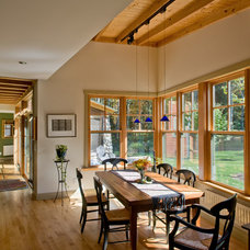 Rustic Dining Room by Littlewolf Architecture