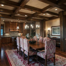 Rustic Dining Room by Natural Instincts Interior Design