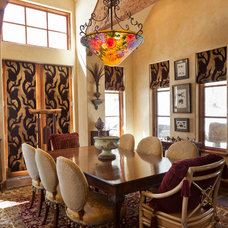 Eclectic Dining Room by NEXT Project Studio
