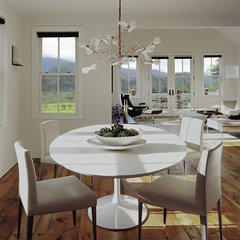 eclectic dining room by Tim Cuppett Architects