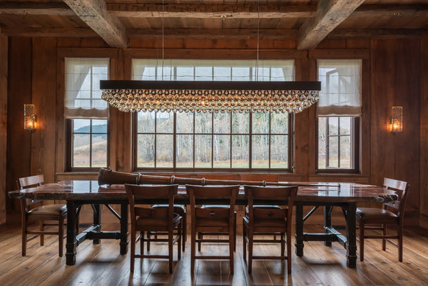 Rustic Dining Room by Pearson Design Group