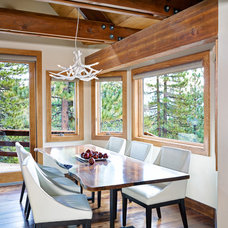 Rustic Dining Room by Sierra Sustainable Builders
