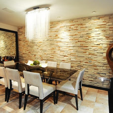Contemporary Dining Room by Vicreations Inc